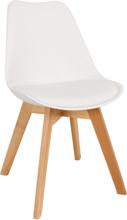Clara spisebordsstol hvid - Egetræ