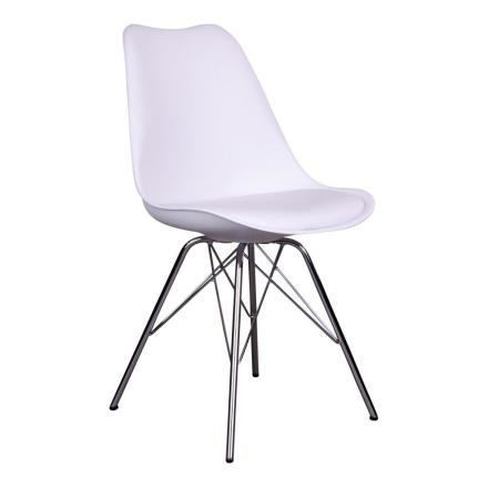 Sensa spisebordsstol hvid - hvidt sæde