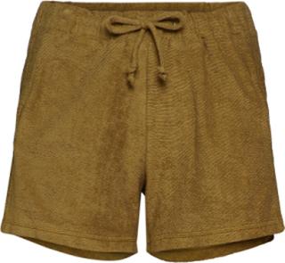 Towelling Shorts Shorts Flowy Shorts/Casual Shorts Grön Rabens Sal R
