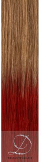 Ombre #27/Red, 50cm, 50g, Tejphår