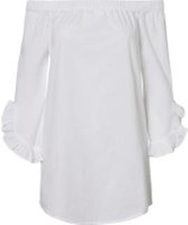 NOISY MAY Off-shoulder Skjorte Kvinder White