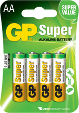 GP AA-batteri Super Alkaline 15A/LR6 4-pack