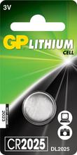 GP Knappcellsbatteri Lithium CR2025 1-pack