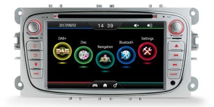 DAB+ spiller med GPS til Ford - Sølv