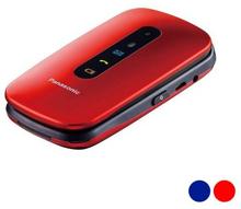 Mobiltelefon för seniorer Panasonic Corp. KX-TU456EXCE 2,4'' LCD Bluetooth USB (Färg: Röd)