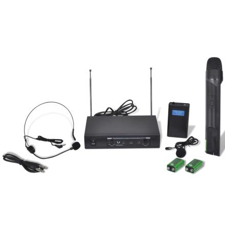 vidaXL Vastaanotin 1x Langaton kuuloke ja Mikrofoni VHF