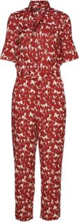 Slzaldana Jumpsuit Print Jumpsuit Rød Soaked In Luxury