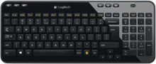Trådlöst tangentbord K360 - Tangentbord - Nordisk - Svart