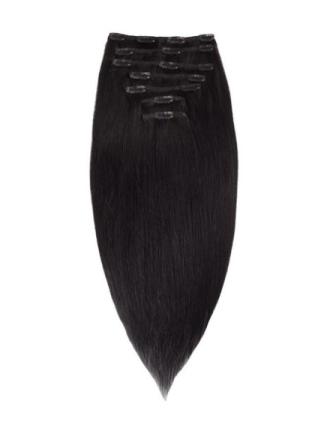 Rapunzel Of Sweden 50 cm Clip-On Set Original 7 pieces Black
