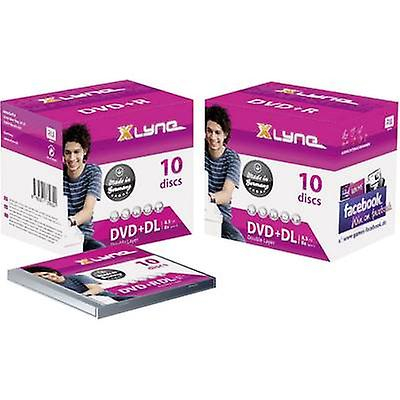 Blank DVD + R DL 8,5 GB Xlyne 4J10000 10 computer(e) juvel