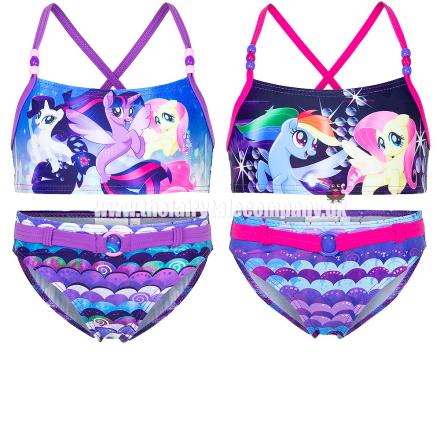 My Little Pony bikini, fuchsia - TheFairytaleCompany