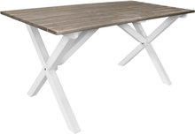 Matbord Scottsdale 150 cm - Vit/Shabby Chic grå