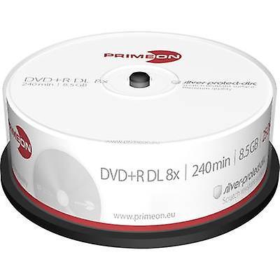 Tom DVD + R DL 8,5 GB Primeon 2761251 25 computer(e) Spi