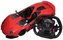 Fjernstyret racerbil - 50 cm lang - Rød - Med rat fjernbetjening