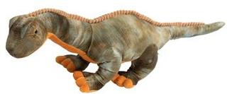 Kæmpe dinosaurus tøjdyr bamse - 90 cm lang - Grøn og brun