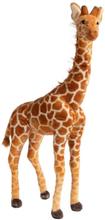 Kæmpe giraf bamse - 95 cm høj - Stående mørkebrun giraf