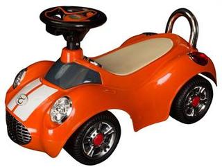 Gåbil orange med mange flotte detaljer - Længde 70cm