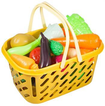 Indkøbskurv med grøntsager - 26 dele ialt