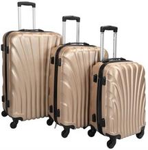Trolleysæt med 3 stk i guld farve - Hard case kuffertsæt - Stødsikkert polypropylen