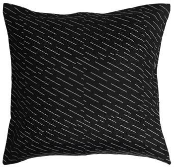 Pudebetræk - 100% Bomuldssatin - Rain Sort - 60x63 cm
