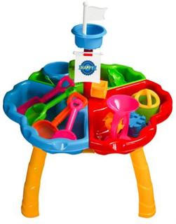 Stort lekebord til sand og vann - Perfekt på stranda eller i hagen