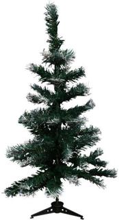 Kunstigt juletræ - Grønt - Med hvidt sne look - Højde 60cm - på fod