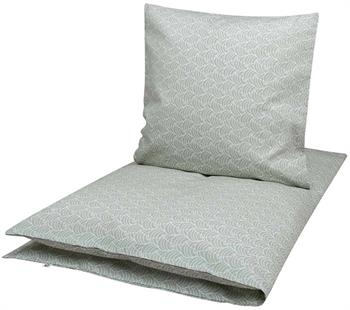 Økologisk baby sengetøj - 70x100 cm - Müsli Leaf grå - Home-tex
