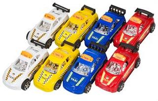 Legetøjs Biler - Pakke med 8 stk. - Selvkørende i forskellige farver