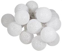 Lyskugler - LED - Kæde med 20 stk - hvid - Ø 6 CM.