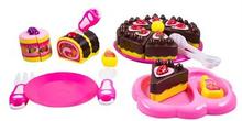 Kakesett til lekekjøkkenet - Kake med tilbehør