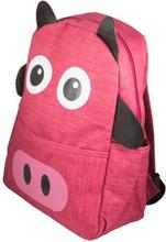 Skoletaske - Lyserød rygsæk til børn - Med ører