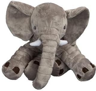 Elefant tøjdyr 35 cm i høj - Slaske bamse - Grå