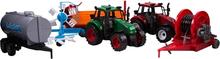 Traktor sæt - 2 traktorer og 4 arbejds redskaber
