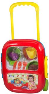 Køkken legetøjs sæt med trolley. Så barnet let kan tage den med