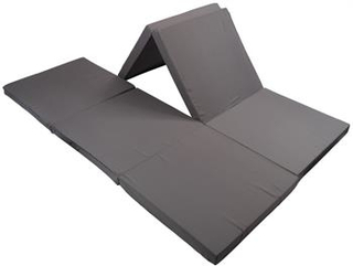 Dobbelt Foldemadras - 126 x 190cm - Højde 6,5cm - Perfekt til gæstemadras