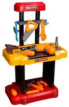 Leketøys verktøybord - Med masse tilbehør - Sammenklappelig
