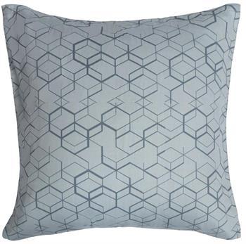 Pudebetræk - 100% Bomuldssatin - Geometric lys blå - 60x63 cm