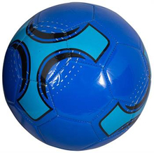 Læder Fodbold - Blå - Diamater 21 cm