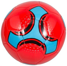 Læder Fodbold - Rød - Diameter 21 cm