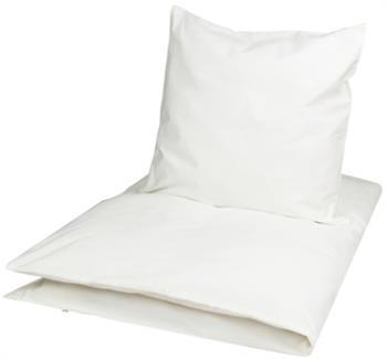 Økologisk baby sengetøj - 70x100 cm - Müsli Solid hvid - Home-tex