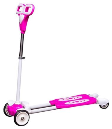 Swing løbehjul - Lyserød - Højde 83cm