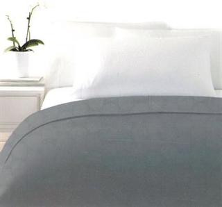 Sengetæppe - Antrasit grå - 260x240cm - Dobbeltseng