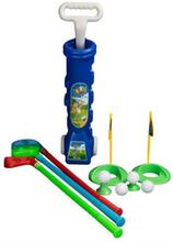 Golfsæt med Trolley til børn i blå med masser af tilbehør