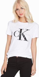 Calvin Klein Jeans Shrunken Tee T-shirts Bright White