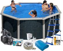 Swim & Fun Poolpaket Bas Ø350x120 Svart