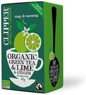 Clipper Te Grøn Te m. Lime & Ingefær Ø, 40g