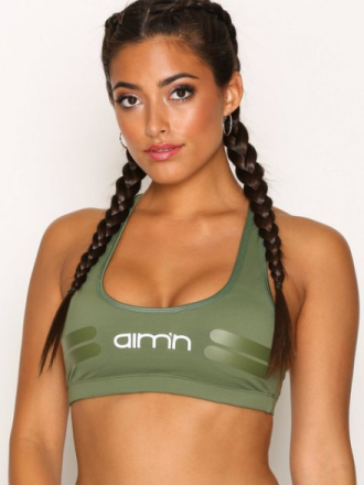 Aim'n Green Tribe Logo Bra