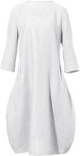 Kleid aus 100% Leinen 3/4-Arm Anna Aura weiss