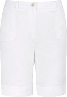 Bermudashorts i rent linne från Emilia Lay vit