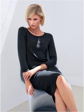 Stickad klänning 3/4-lång ärm från Peter Hahn svart